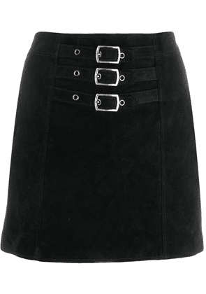 Saint Laurent triple buckle mini skirt - Black
