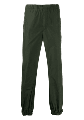 Prada touch-strap technical trousers - Green