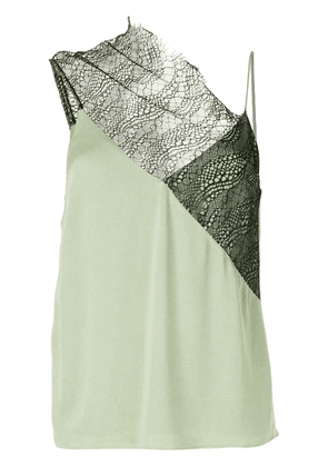 Christopher Esber drape neck lace cami - Green