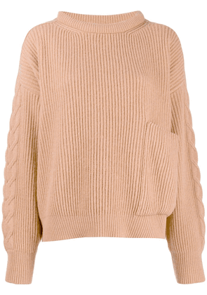 Circus Hotel ribbed knit sweater - NEUTRALS