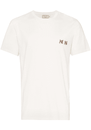 Maison Kitsuné double fox patch T-shirt - White