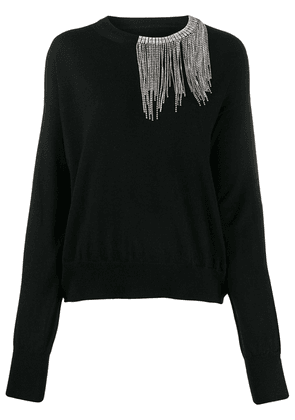 Circus Hotel crystal embellished neck sweater - Black