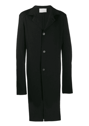 10Sei0otto single-breasted fitted coat - Black