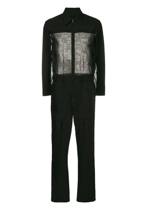 Fendi sheer-panel jumpsuit - Black
