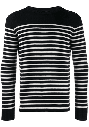 Saint Laurent marinère striped knitted jumper - Black