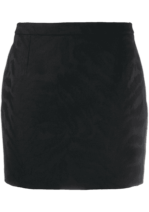 Saint Laurent embossed animal pattern mini skirt - Black