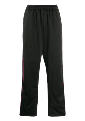 Balenciaga side stripe track pants - Black