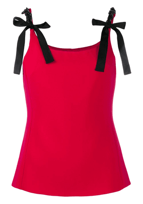 Boutique Moschino chain-embellished tank top - Red