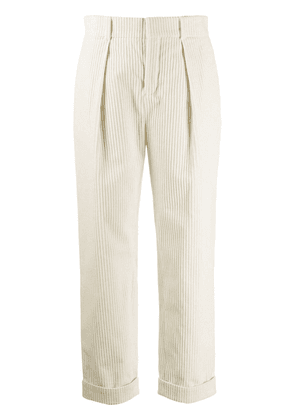 Saint Laurent tapered corduroy trousers - White