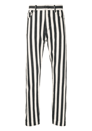 Saint Laurent striped straight jeans - White
