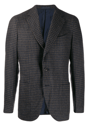 Caruso houndstooth suit jacket - Blue