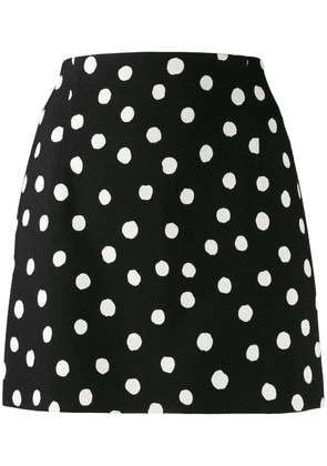 Saint Laurent polka dot skirt - Black