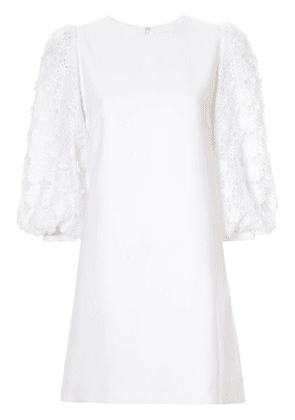 Andrew Gn lace lantern dress - White