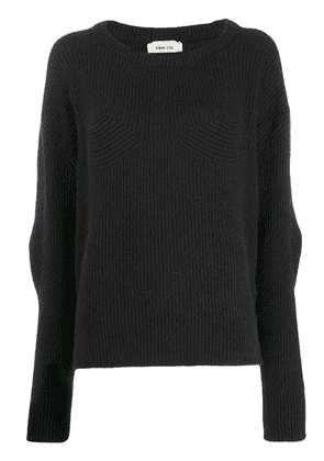 Circus Hotel ribbed knit jumper - Black