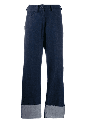 Barbara Bologna wide-leg flared jeans - Blue