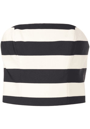 Christian Siriano striped cropped top - Black