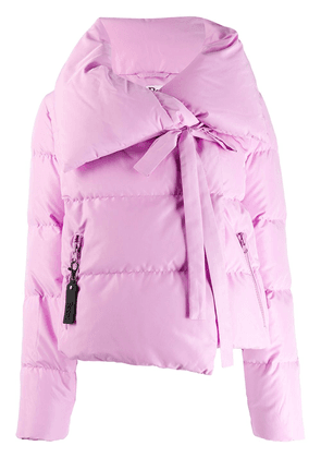 Bacon wide collar puffer jacket - PINK