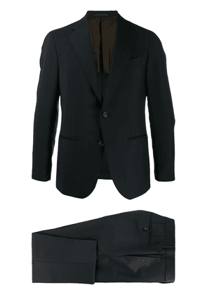 Caruso pin tuck two piece suit - Blue