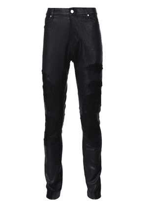 RtA embroidered skinny trousers - Black