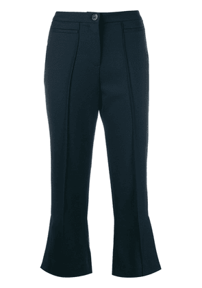 Alexa Chung cropped flared trousers - Blue