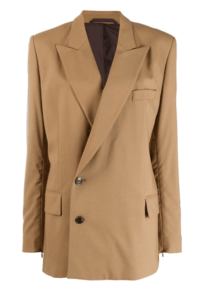 A.F.Vandevorst double-breasted fitted blazer - Brown