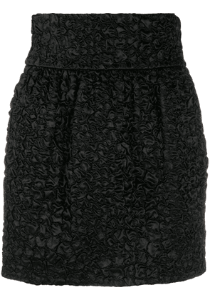 Saint Laurent textured mini skirt - Black