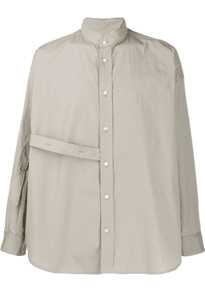 Damir Doma loose-fit strap detail shirt - Green