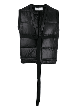 AMBUSH tie-front padded gilet - Black