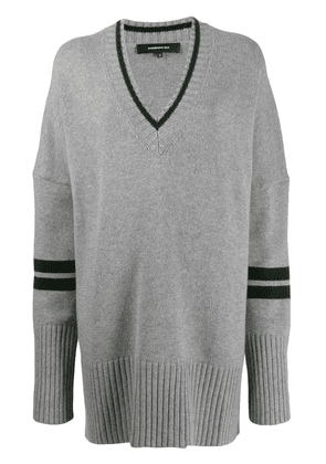 Barbara Bui oversized knitted jumper - Grey