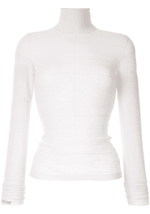 Barrie roll-neck fitted sweater - White