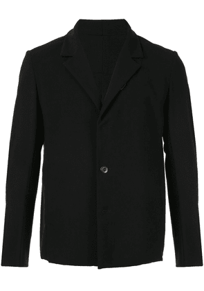 Attachment single-breasted jacket - Black