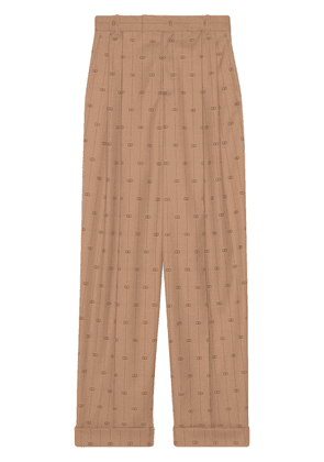 Gucci Retro GG tailored trousers - NEUTRALS