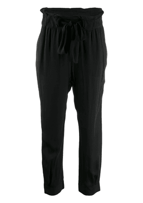Chufy loose fit tapered trousers - Black