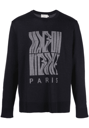 Maison Kitsuné logo knit sweater - Blue