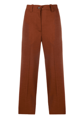 Erika Cavallini high waisted cropped trousers - Brown