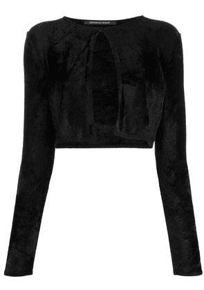 Antonino Valenti cropped long-sleeve cardigan - Black