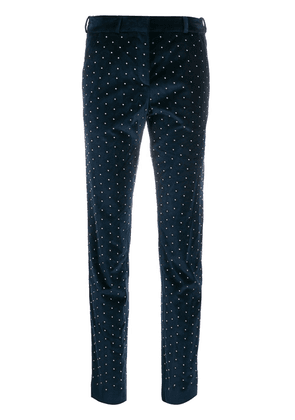 Faith Connexion slim stud-embellished trousers - Blue
