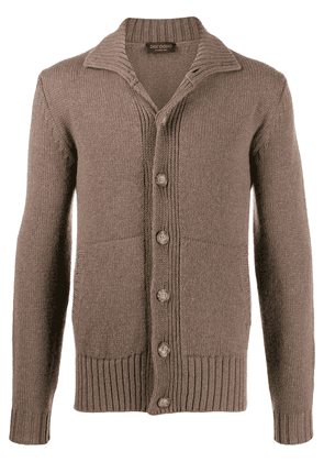 Dell'oglio front zip sweater - Brown