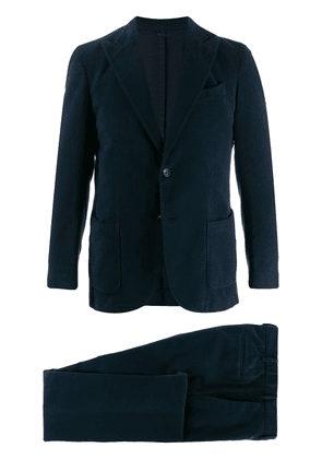 Dell'oglio Washed wool suit - Blue