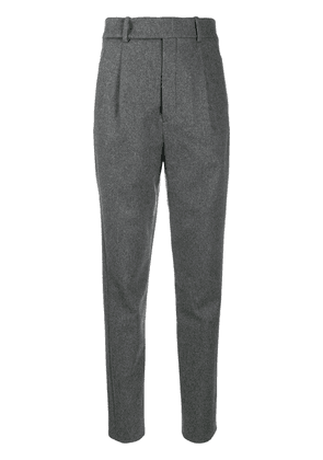 Saint Laurent high-rise tailored trousers - Grey