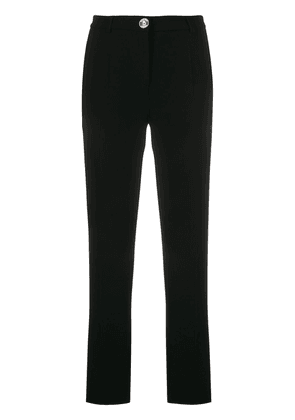 Boutique Moschino skinny fit crop trousers - Black