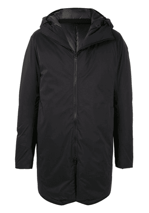 Attachment hooded padded coat - Black