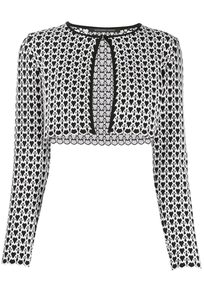 Antonino Valenti geometric cropped cardigan - White