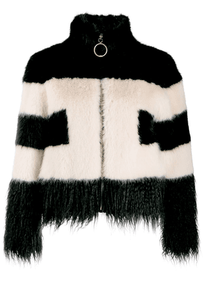 Elisabetta Franchi faux-fur cropped jacket - Black