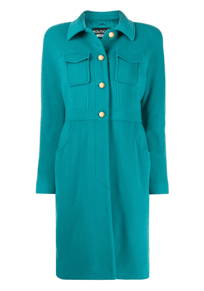 Boutique Moschino single-breasted fitted coat - Blue