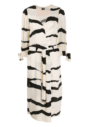 Elisabetta Franchi wrap dress - NEUTRALS