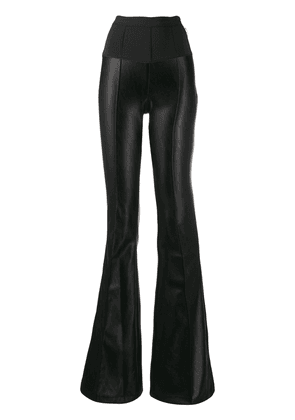 Elisabetta Franchi high waisted flared trousers - Black