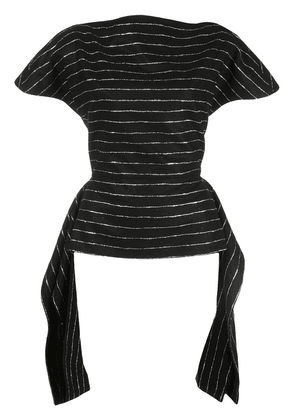 Christian Siriano striped fitted T-shirt - Black
