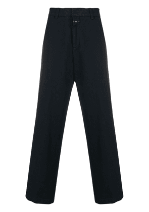 Closed tailored wide leg trousers - Blue