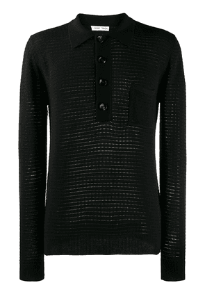 Cmmn Swdn Curtis knitted polo shirt - Black